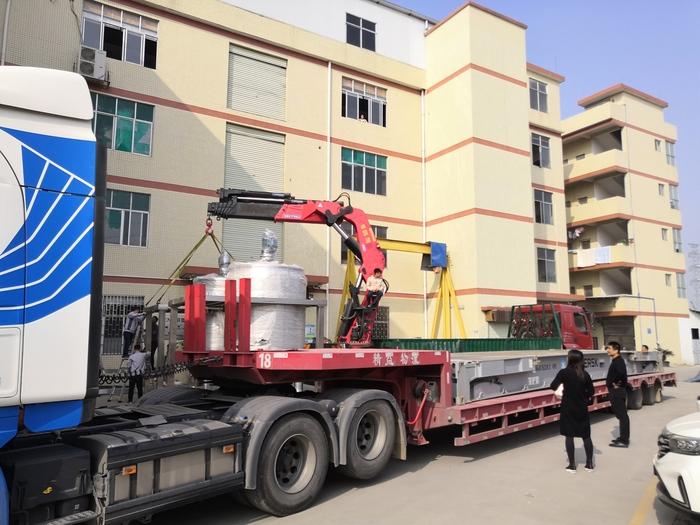 大型液洗攪拌鍋裝車